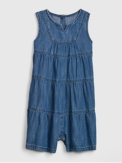Toddler Tiered Denim Romper