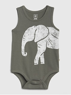 Baby Organic Cotton Graphic Bodysuit