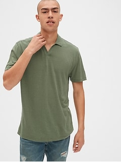 Polo Shirt in Linen-Cotton
