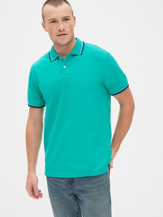 Gap All Day Pique Mens Polo Shirt