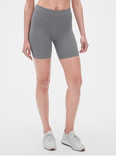 "GapFit High Rise 7"" Blackout Bike Shorts"