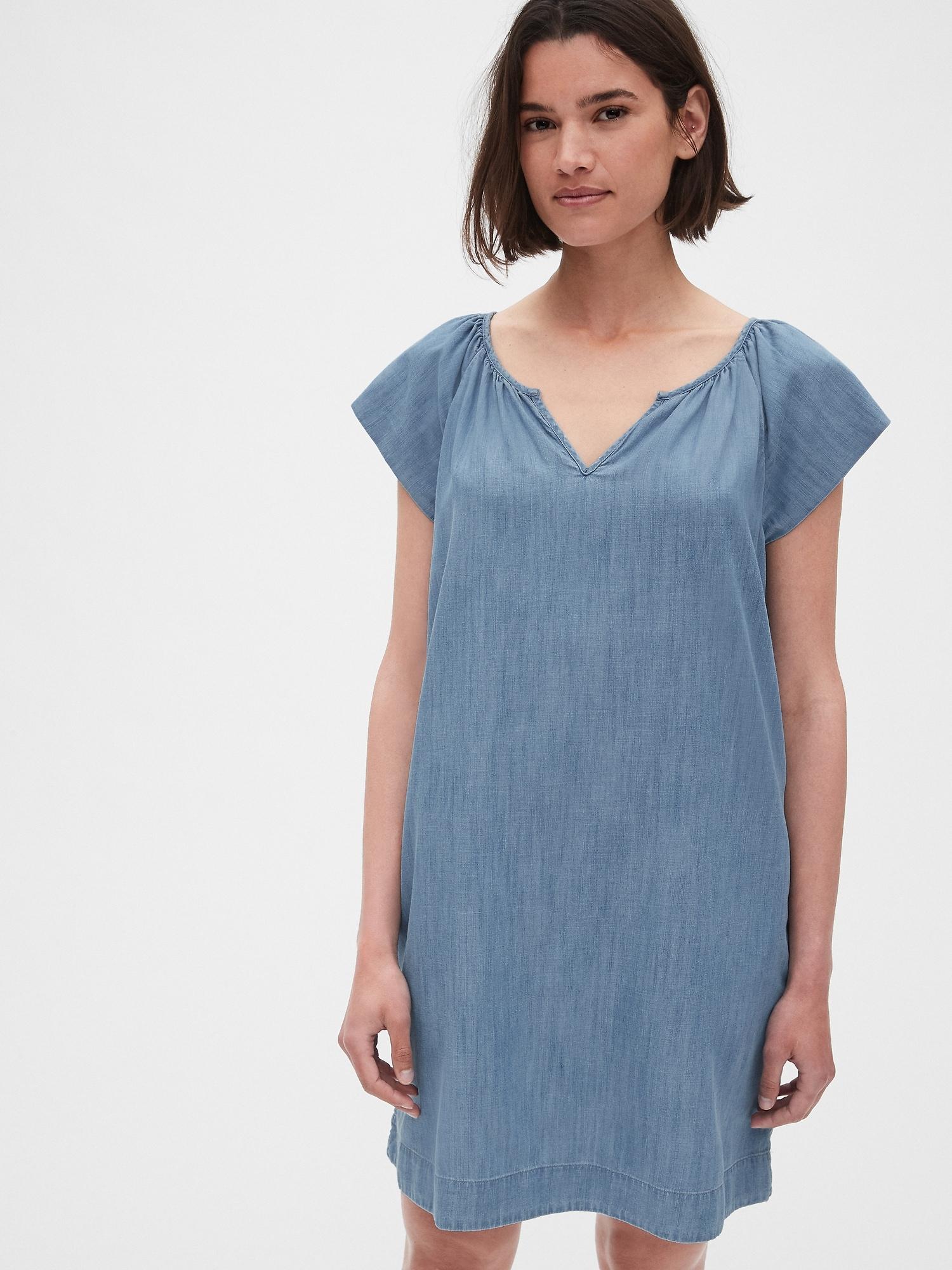 c3a7a0f5902ff Flutter Sleeve Swing Dress in TENCEL™   Gap