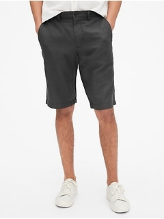 "12"" Chino Shorts in Linen-Cotton"