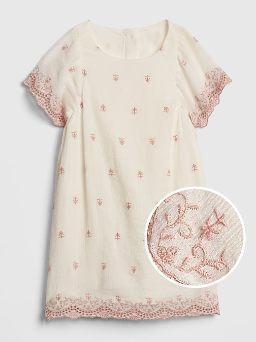 Toddler Eyelet Scalloped Dress