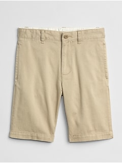 Khaki Shorts in Stretch