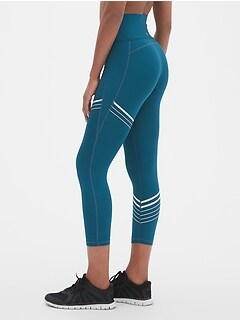 GapFit High Rise Stripe 7/8 Leggings in Sculpt Revolution