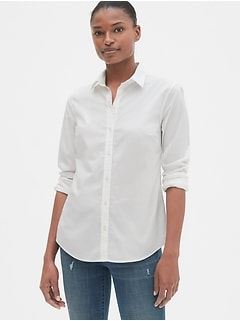 Slim Button-Front Shirt