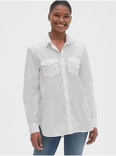 Double Pocket Boyfriend Shirt
