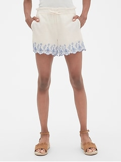 Kids Embroided Flutter Shorts