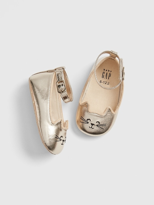Baby Metallic Cat Ballet Flats