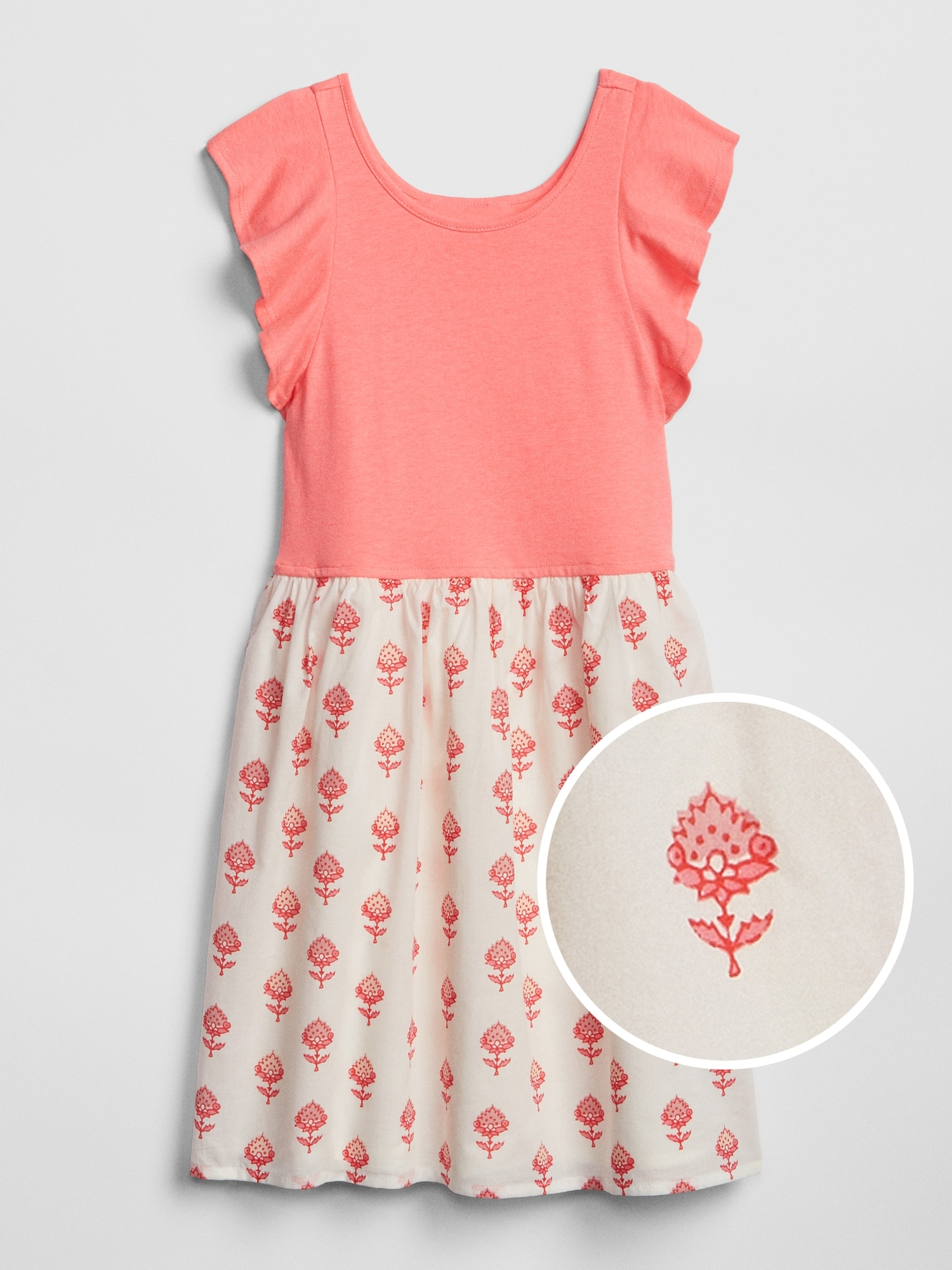 4e9ba475 Kids Mix-Media Flutter Dress | Gap