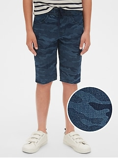 Kids Pull-On Camo Denim Shorts