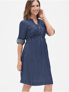 Maternity Utility Dress in TENCEL™