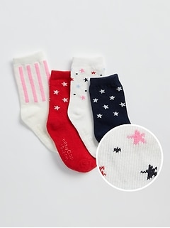 Toddler Star Crew Socks (4-Pack)