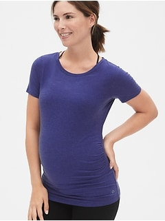 Maternity GapFit Breathe Crewneck T-Shirt