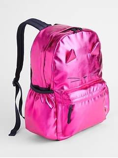 Kids Metallic Senior Backpack