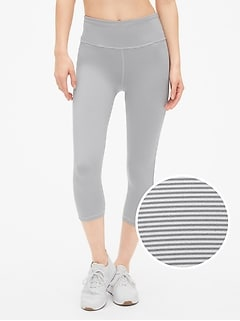 GapFit High Rise Stripe Capris in Eclipse