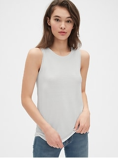 Softspun Twist-Back Tank Top