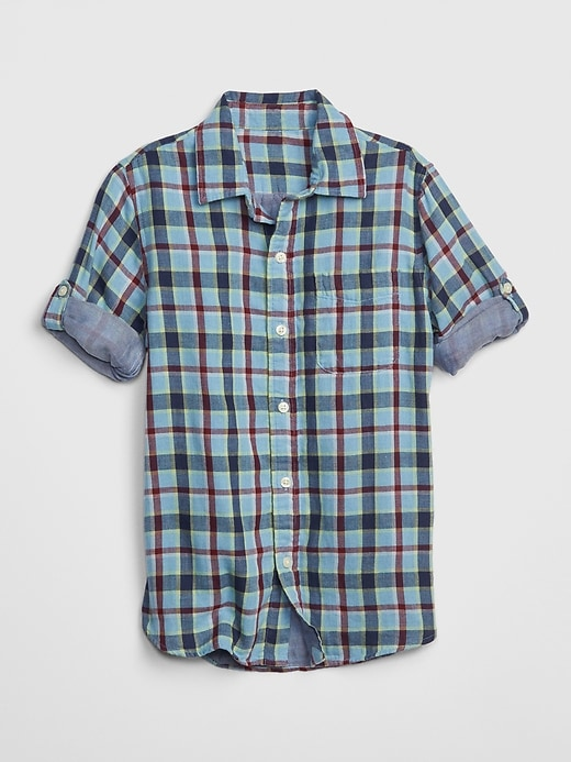 Kids Double-Weave Convertible Shirt