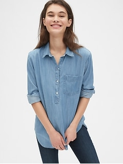 Boyfriend Popover Shirt in TENCEL™