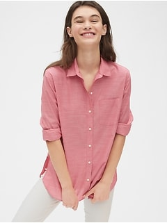 Boyfriend Shirt in Poplin