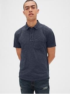 Vintage Slub Jersey Polo Shirt