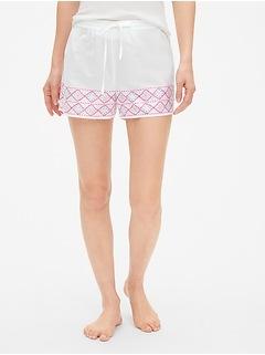 Print Drawstring Shorts