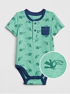 Baby Henley Print Bodysuit