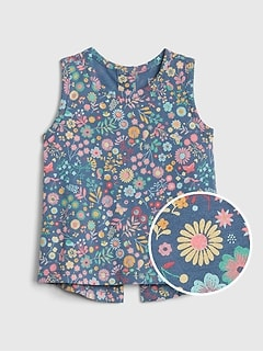 Baby Button-Back Tank Top