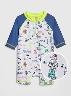 df26b1262 ... Clothes > Toddler Boy Swimwear. Baby Print Raglan Shorty One-Piece