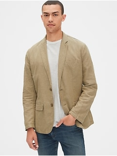 Casual Classic Blazer in Linen-Cotton