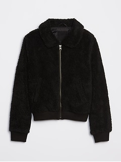 Kids Sherpa Bomber Jacket