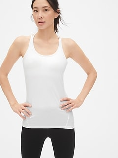 GapFit Breathe Strappy Shelf Tank Top