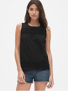Eyelet Embroidered Tank Top