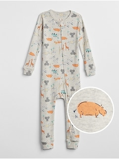 babyGap Organic Cotton Zoo One-Piece