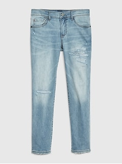 Kids Superdenim Destructed Slim Jeans with Fantastiflex