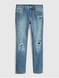 Kids Destructed Skinny Jeans with Fantastiflex