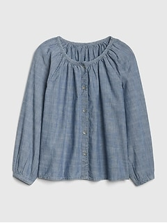 Kids Button-Front Denim Top