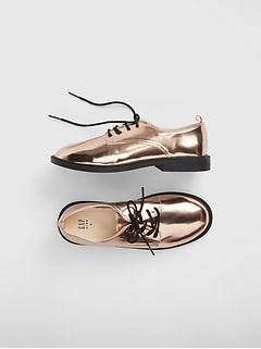 Kids Metallic Oxford Shoes