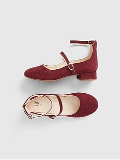 Kids Faux-Suede Block Heels