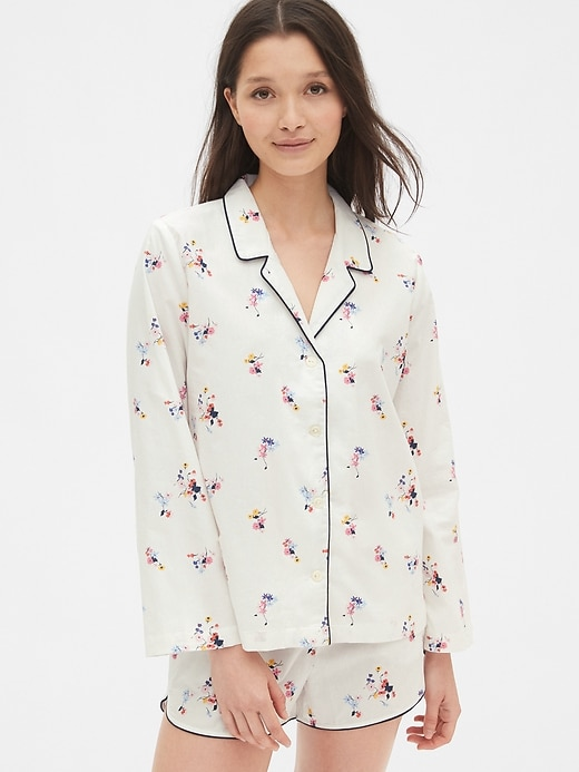 Print Top In Poplin by Gap