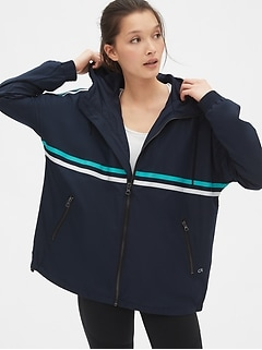 GapFit Oversized Hooded Windbreaker