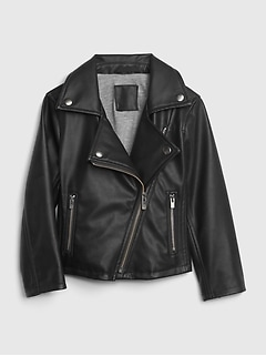 Toddler Faux-Leather Biker Jacket