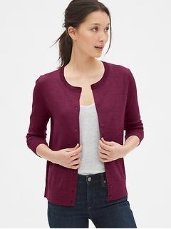 Cardigan Sweater in Merino Wool