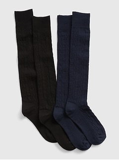Kids Cable-knit Over-the-Knee Socks (2-Pack)