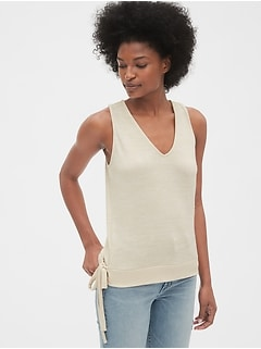 Softspun Sleeveless Wrap Top
