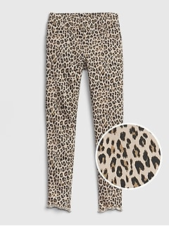 Kids Leopard Ankle Jeggings with Fantastiflex