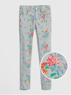 Kids Floral Skinny Jeans with Fantastiflex
