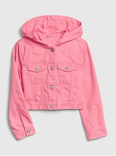 Kids Hoodie Icon Denim Jacket