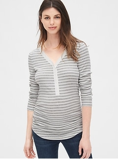 Maternity Featherweight Ribbed Henley